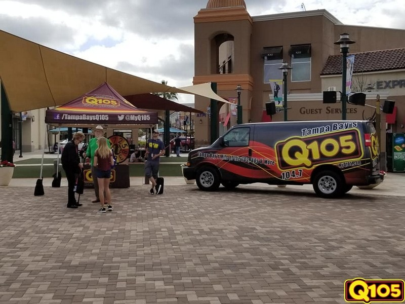 Q105 Street Team had a great time with all who came out to Fresh Market at Wiregrass in Wesley Chapel on Saturday, February 2nd.