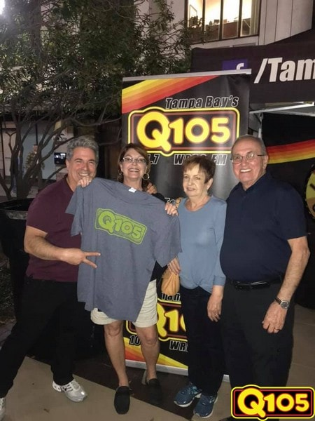 Q105 Jocks and Street Team had a great time with all who came out to First Friday St. Pete on Friday, February 1st.