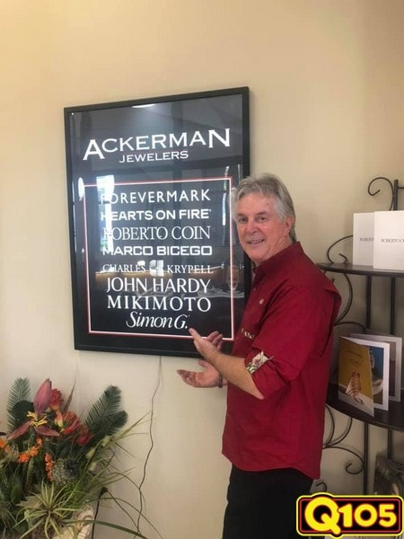 Q105 Street Team had a great time with all who came out to Ackerman Jewelers on Saturday, February 2nd.