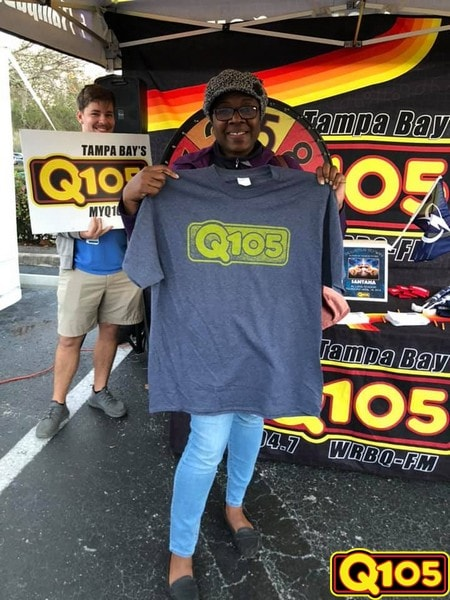 """""""SMILE, IT'S FREE!"""" The Q105 team was thrilled to see your pearly whites at Dentistry From the Heart on Friday, February 8th!"""